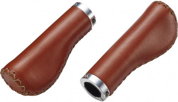 Griffe Gr14 braun, 130/80mm, Leder geschlossenes Ende